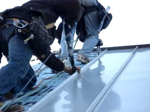 Standing Seam Metal Roof Installation Youtube