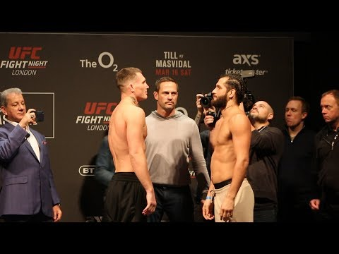 UFC London: Darren Till vs. Jorge Masvidal Weigh-In Staredown - MMA Fighting