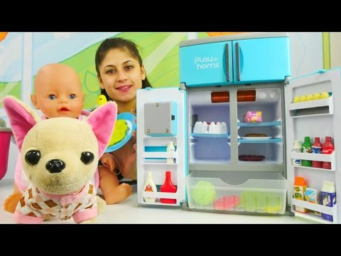 Ayşe ve Loli Gül'e muz püresi yapıp bulaşık yıkıyorlar🍌Oyuncak bebek bakımı👶#Kızoyunları