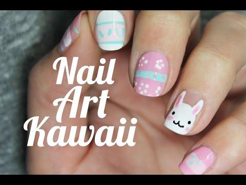 Conejo kawaii Nail Art - Húsvéti köröm tipp