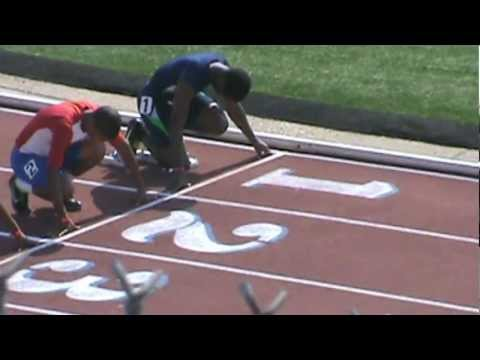 Willie Leggett 100meters 2012 Youth Nationals, Dallas, TX.mpg