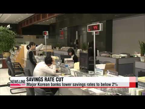 Major Korean banks cut savings interest rates