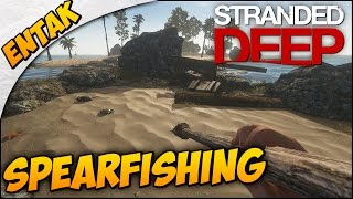Stranded Deep Gameplay ➤ Crafting A Campfire & Spear, Spear Fishing, & More! [Part 2]