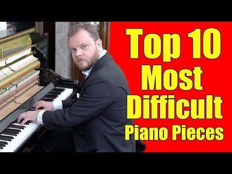 Top 10 Most Difficult Piano Pieces Vídeos de zueiras e brincadeiras: zuera, video clips, brincadeiras, pegadinhas, lançamentos, vídeos, sustos