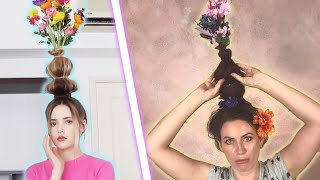 We Tried The Flower Vase Hair Challenge