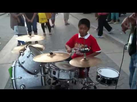 AMAZING 8 year old boy play drums - YOUNG FILIPINO JUSTIN BIEBER!