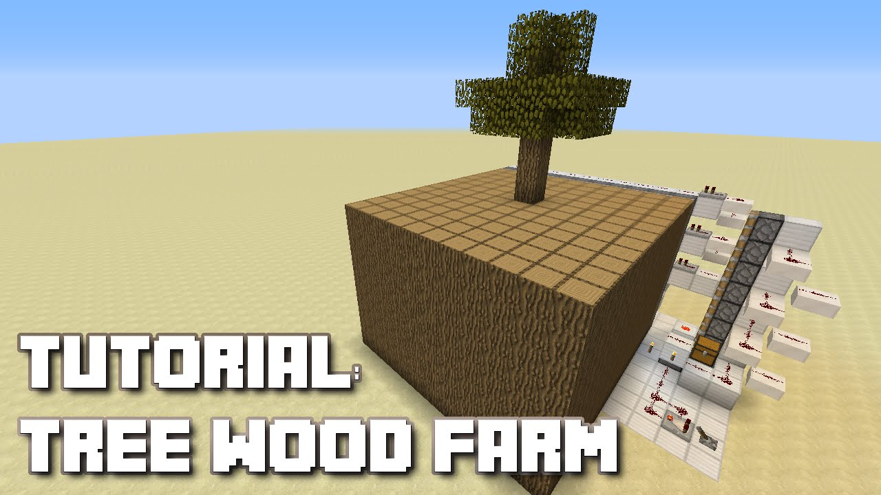 how to make a wood farm in minecraft