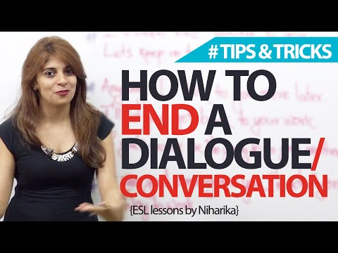 How To End End A Conversation? Spoken English Lesson video