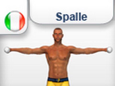 Alzate laterali con i pesi esercizi allenamento per - Palestra a casa esercizi ...