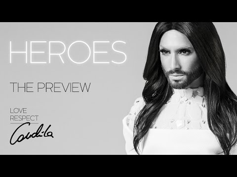 Conchita Wurst about HEROES (Deutsch + English) #theunstoppables