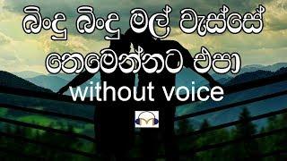 Bindu Bindu Mal Wesse Karaoke (without voice) බිංදු බිංදු මල් වැස්සේ
