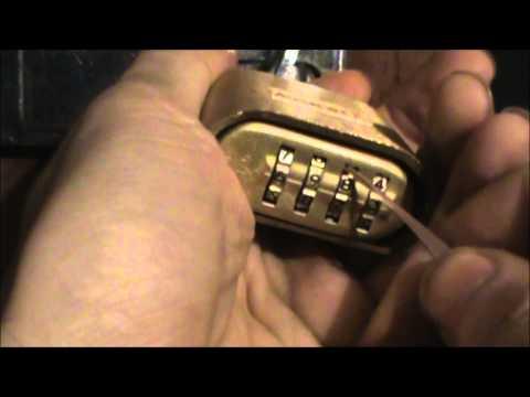 Storm Lock Picking Tutorial 006 - Lock Pick 1E Hook Bypass Vs Master 175 Combination Padlock