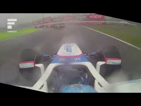 Takuya Izawa start onboard SUPER FORMULA heavy wet