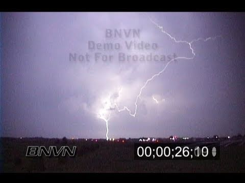 6/5/1999 Lightning video from Flying Cloud Airport stock footage