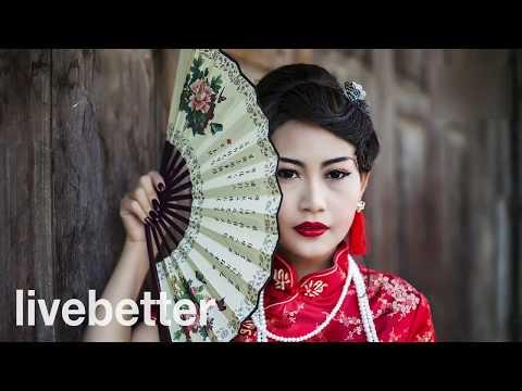 Tradycyjna Chińska Muzyka Instrumentalna Wesoła Muzyka Ludowa Azji