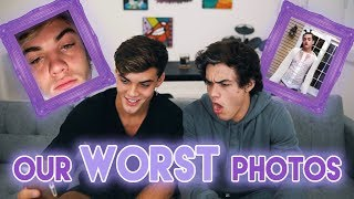 The WORST Photos of Us! (Reacting and Re-creating!)