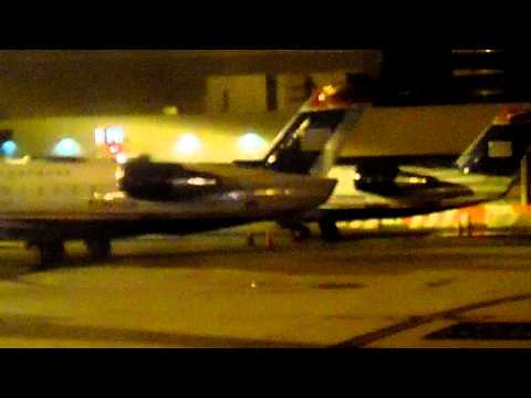 US Airways Express CRJ200 Taxi  to gate at Philadelphia