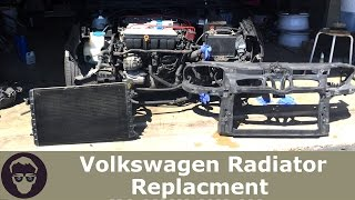 Volkswagon Radiator Replacement!! Bumper/Headlight/Front Clip Removal