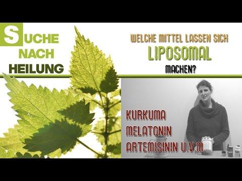 Welche Mittel und Substanzen lassen sich liposomal machen?