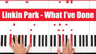 What I've Done Linkin Park Piano Tutorial - EASY - PART 1