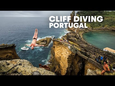 Diving from a Rocky Cliff in Portugal - Red Bull Cliff Diving 2015