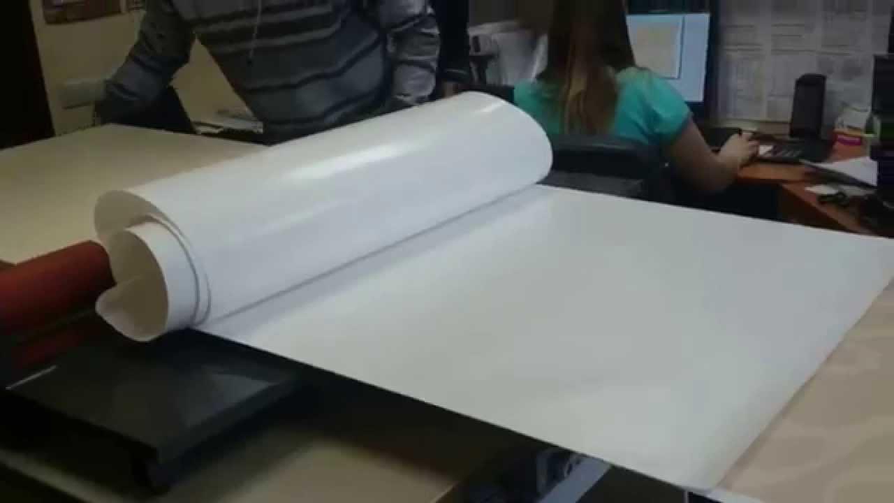 Ламинатор LBS 1000 Накатывание пленки на ЛДСП - YouTube