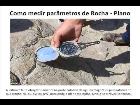 Medição de Parâmetros de Rocha com a Bússola