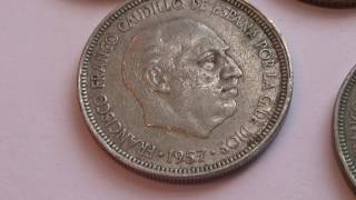 Six Great Old Spain Coins