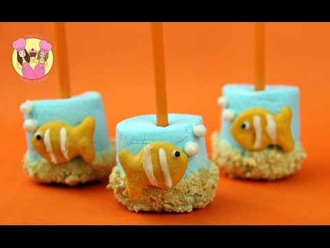 How to Make Nemo Marshmallow Pops via gk-howto-videos.blogspot.com movie inspired recipes