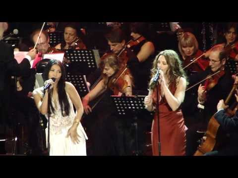 Anggun ft' Natasha St Pier - Vivre d'Amour (Live Concerto di Natale Roma 7.12.2013)