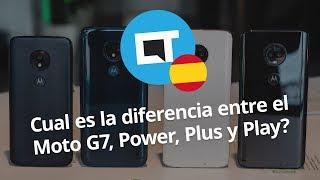 Cual es la diferencia entre el Moto G7, Power, Plus y Play?