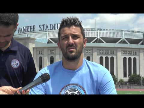 David Villa in New York City angekommen: