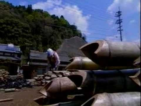 Bamboo working in Japan - in a bamboo factory