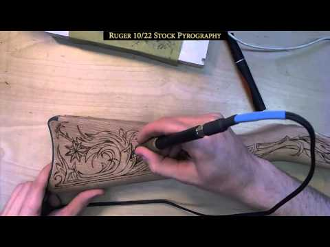 Ruger 10/22 Stock Custom Pyrography