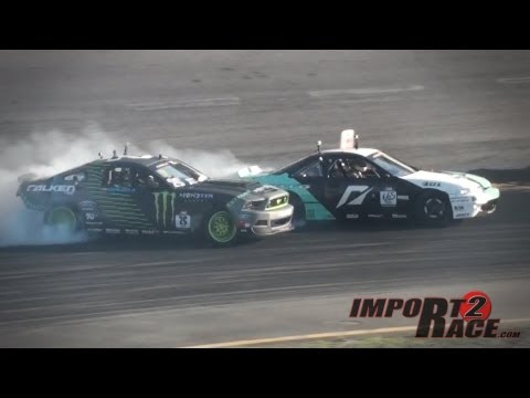 Silvia S14 vs Mustang Drifting at Formula D  (Pick Your Winner)