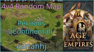 Age of Empires: Definitive Edition - 4v4 RM Persians Continental - eartahhj - 29/06/2019