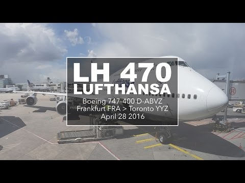 Boeing 747 Lufthansa   Inflight experience   Frankfurt - Toronto