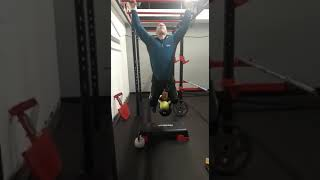 Weighted pull ups +42kg x4. (With nearly a broken foot!!)