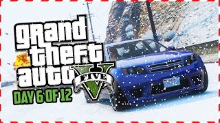 GTA 5 Funny Moments - EPIC Frosty Jumps, Stunts & Races! (Day 6 of 12) (GTA 5 Christmas Special)