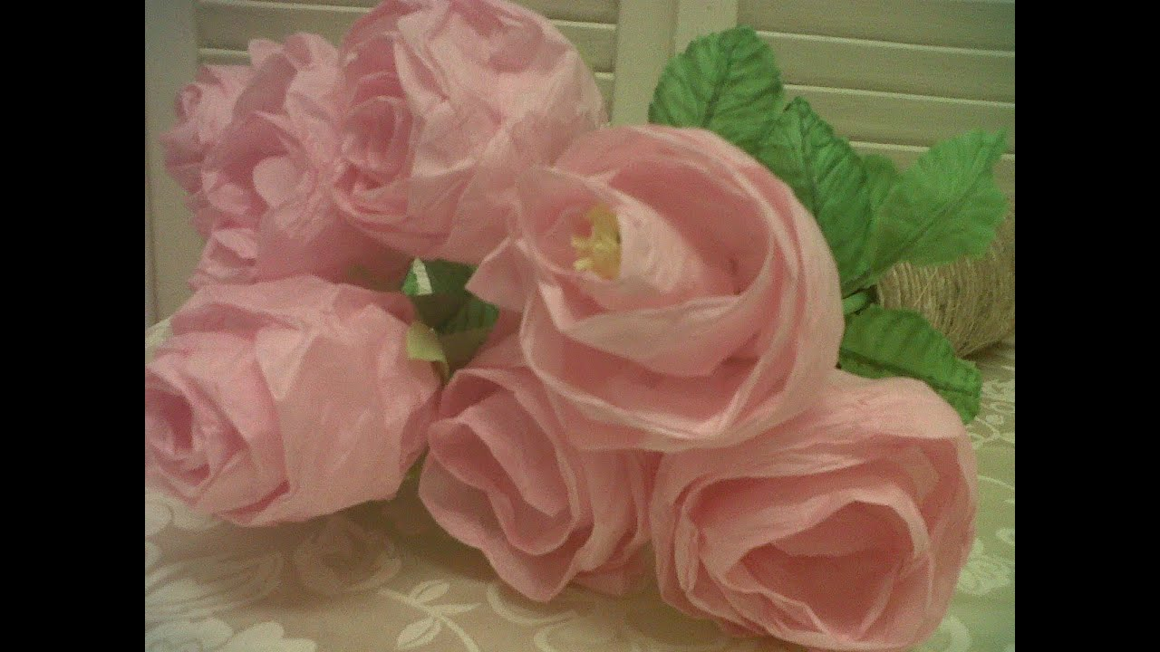 Easy - unique to make a Rose Paper Flower Tutorial - YouTube