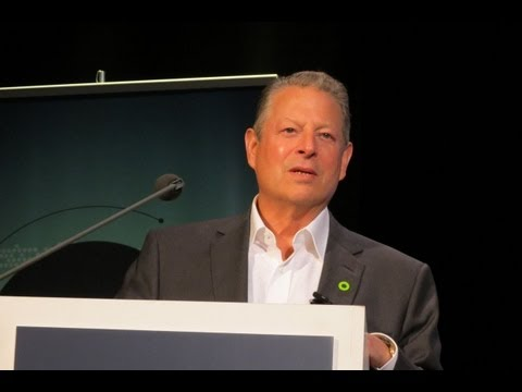 Al Gore gives 2013 Global Warming Reality UN Week