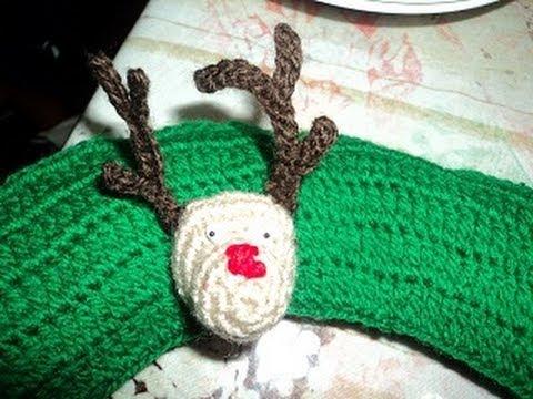 Adornos navideños tejidos