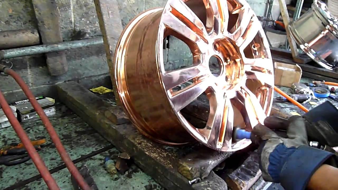 Gold Chrome Plating Chrome Plating Wheels Rims