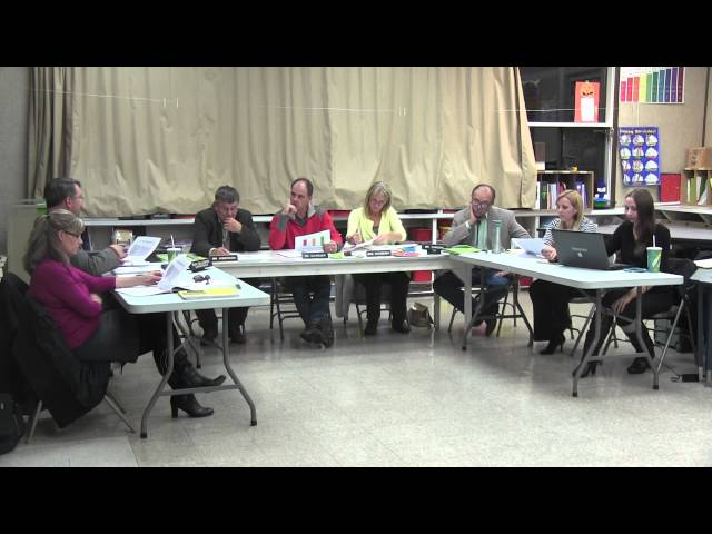 Lake County School District #7 regular session board meeting 10-27-2014