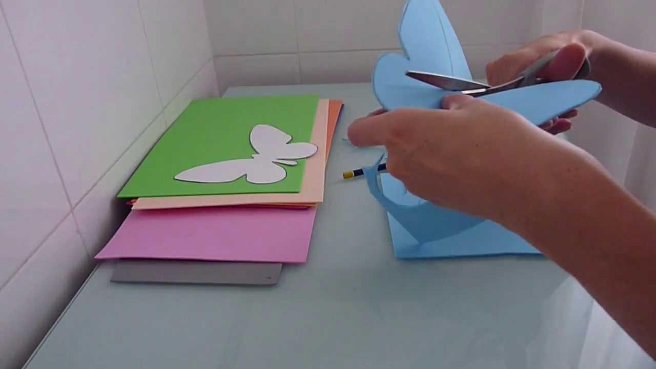 Mariposas de goma eva para decorar el balc n youtube - Decorar paredes infantiles con goma eva ...