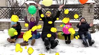 **Five Little BABIES** Jumping WITH BALLOONS Songs for children JoyJoy Lika