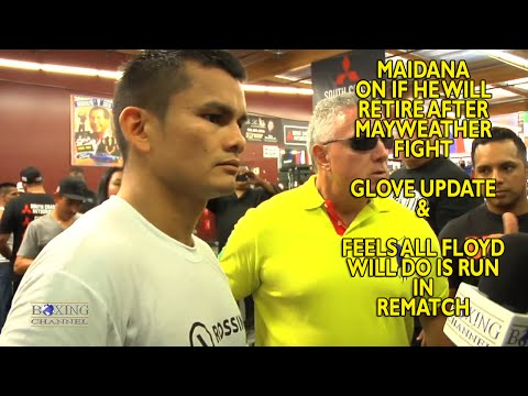Marcos Maidana has no update on gloves Feels Mayweather will run in rematch