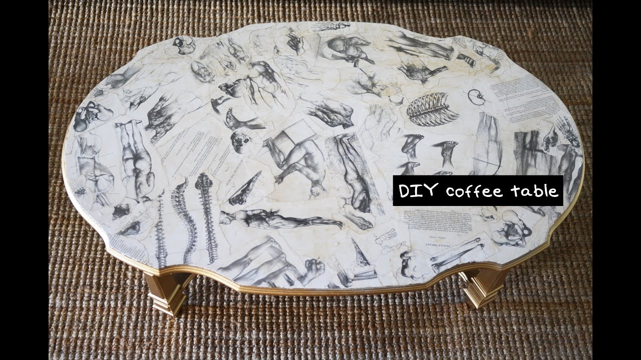 DIY Decoupage Coffee Table Furniture Design Tutorial