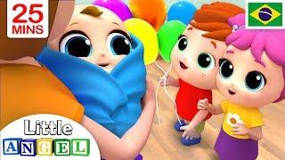 O Aniversário do Joãozinho! 🎂   + Vídeos Infantis do Little Angel Português