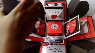 Triple Layer Box Card for Valentine day.